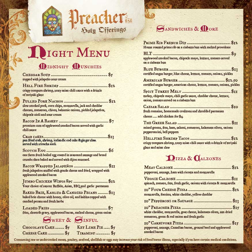 Preacher_Bar_Late_Night_Menu